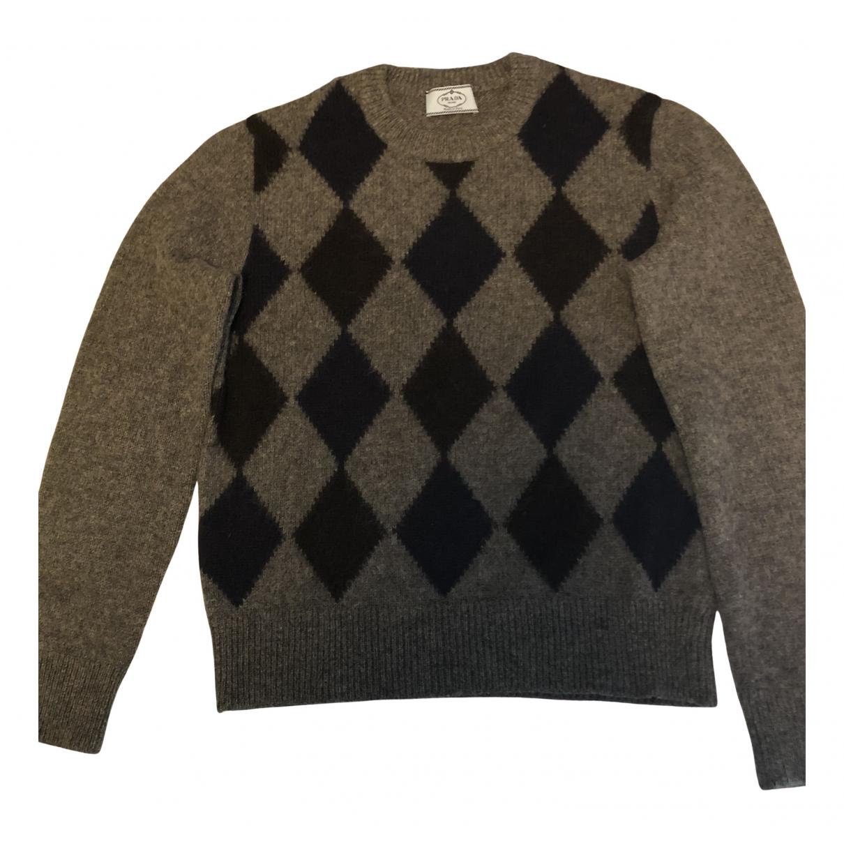 Prada \N Pullover.Westen.Sweatshirts  in  Grau Wolle