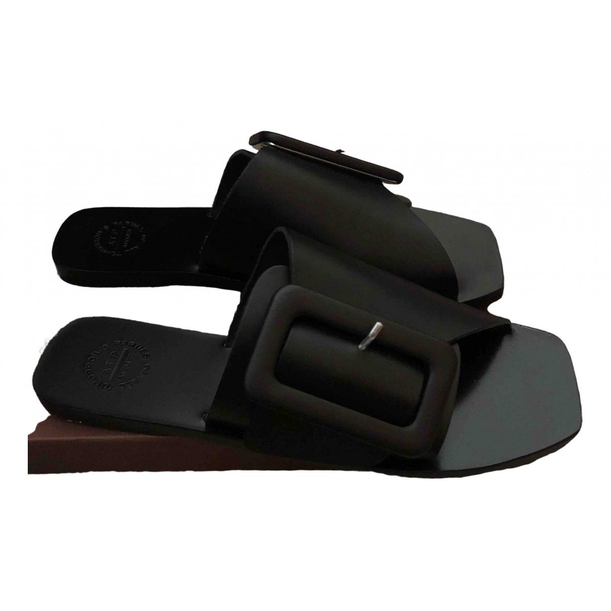Atp Atelier - Sandales   pour femme en cuir - noir