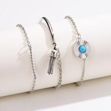 3pcs Tassel Charm Bracelet