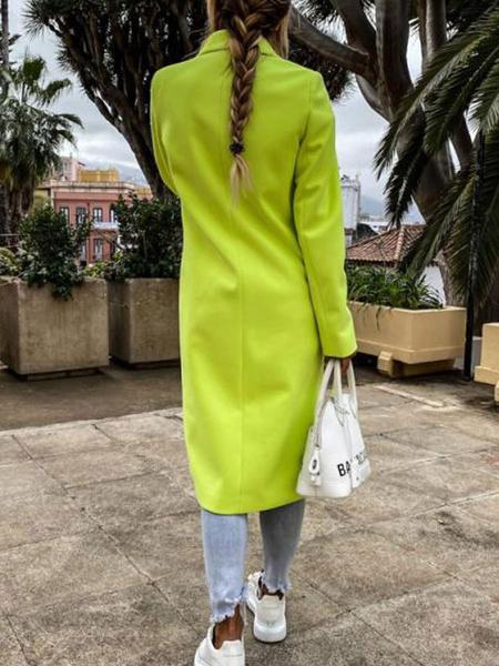 Milanoo Women Pea Coat Turndown Collar Long Sleeve Double Breasted Jackets Winter Coats