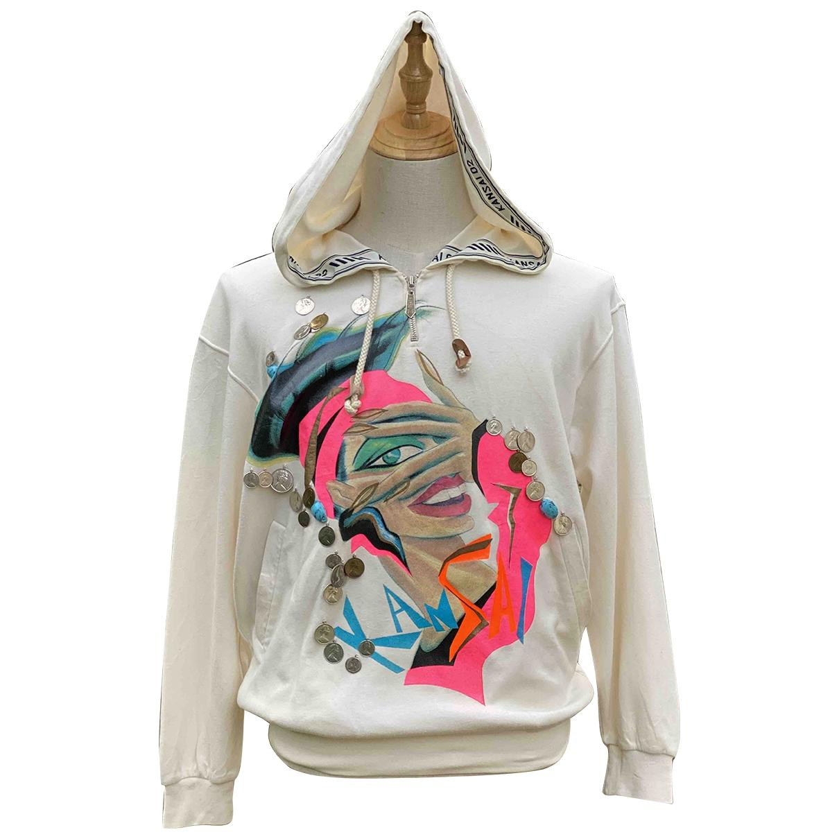 Kansai Yamamoto \N Pullover.Westen.Sweatshirts  in  Beige Baumwolle