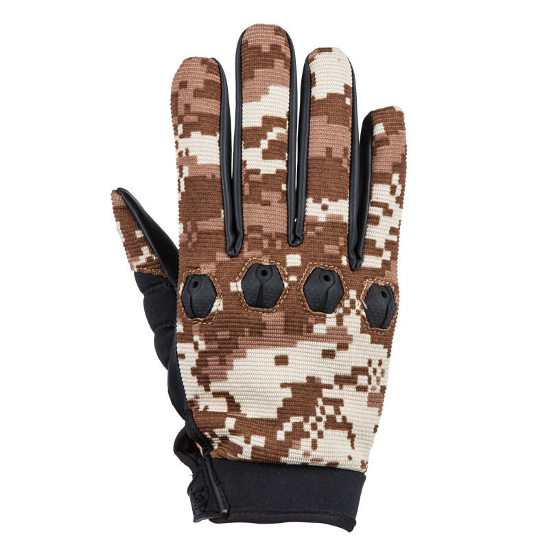 1Pair Tactical Full Finger Glove PU Breathable Slip Resistant Gloves Soft For Cycling Riding Outdoor Sports Hunting Acti