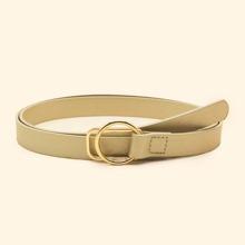 Cinturon con hebilla metalica redonda