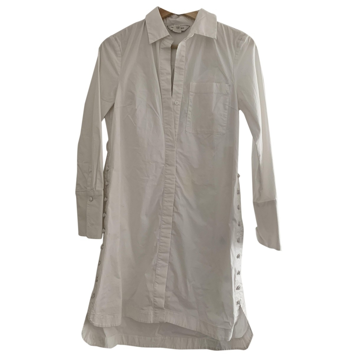 Club Monaco - Robe   pour femme en coton - blanc