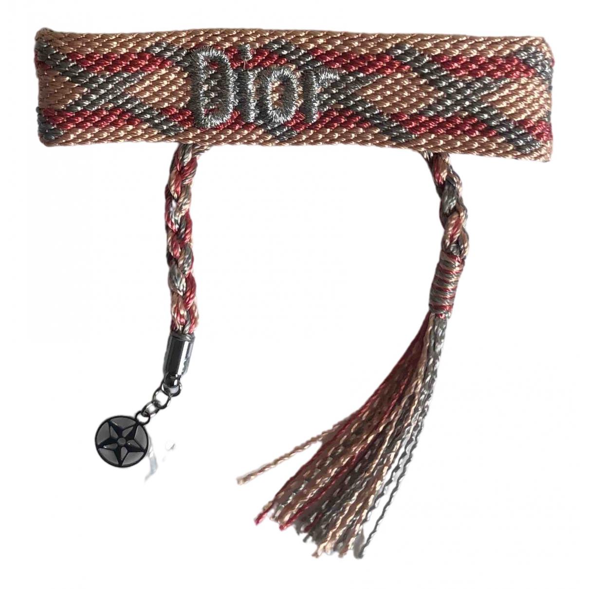 Dior \N Armband in  Rosa Leinen