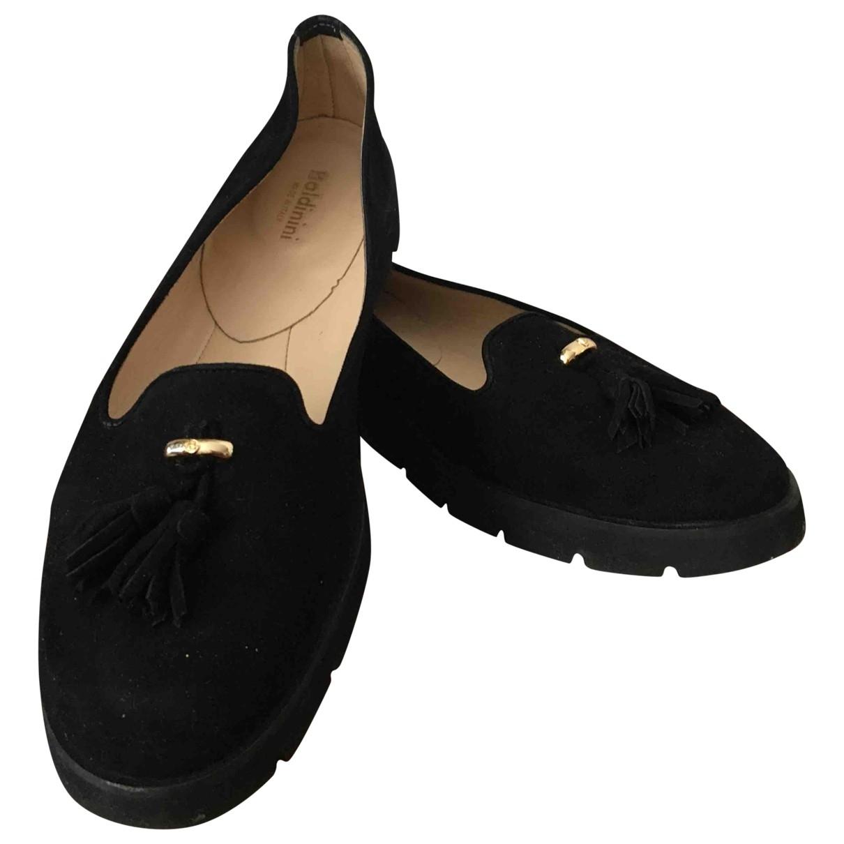Baldinini - Ballerines   pour femme en suede - noir