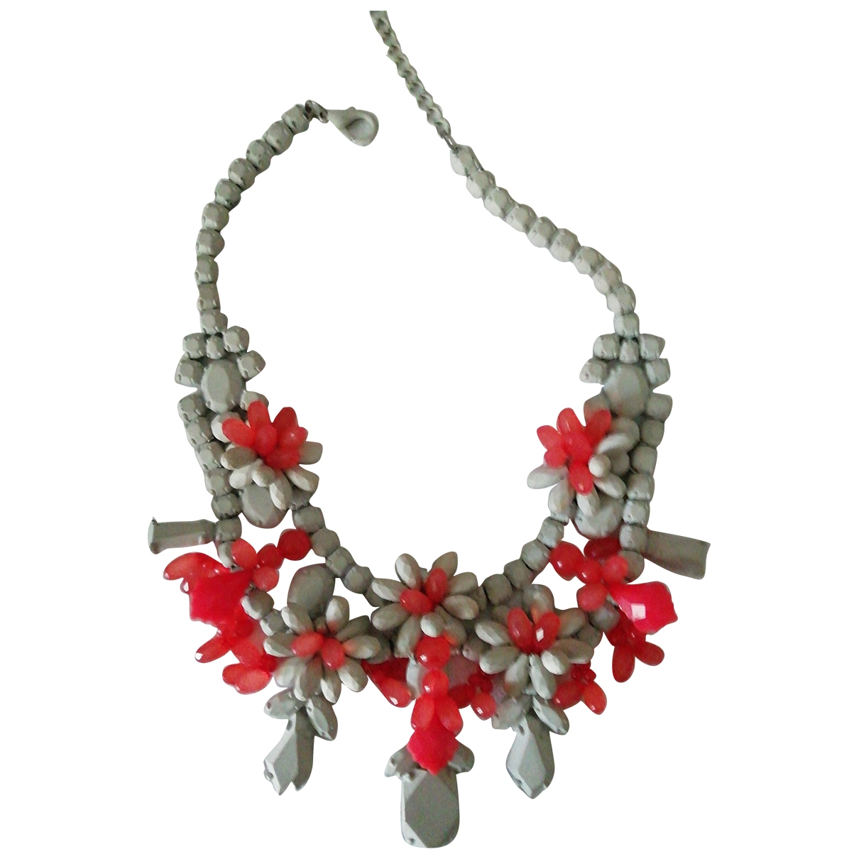 Zara \N Orange Metal necklace for Women \N