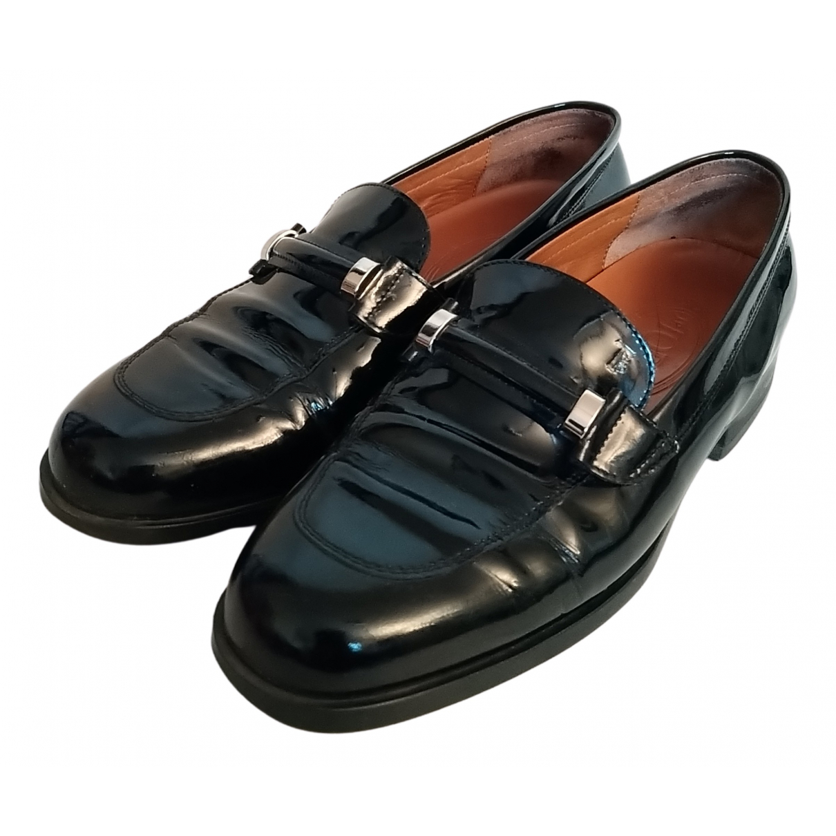 Tod's Gommino Black Patent leather Flats for Women 37.5 EU