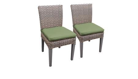 Florence Collection FLORENCE-TKC290b-ADC-C-CILANTRO 2 Side Chairs - Grey and Cilantro