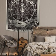 Astrological Disk Print Wall Hanging Cloth