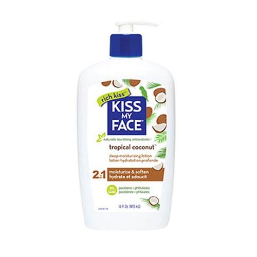 Deep Moisturizing Lotion Tropical Coconut, 16 Oz by Kiss My Face