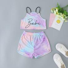 Toddler Girls Tie Dye Cami Top & Shorts