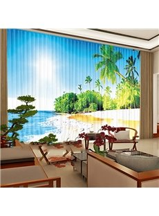 Exquisite Chiffon Non-Shrinkable 3D Decorative Living Room Sheer Curtain