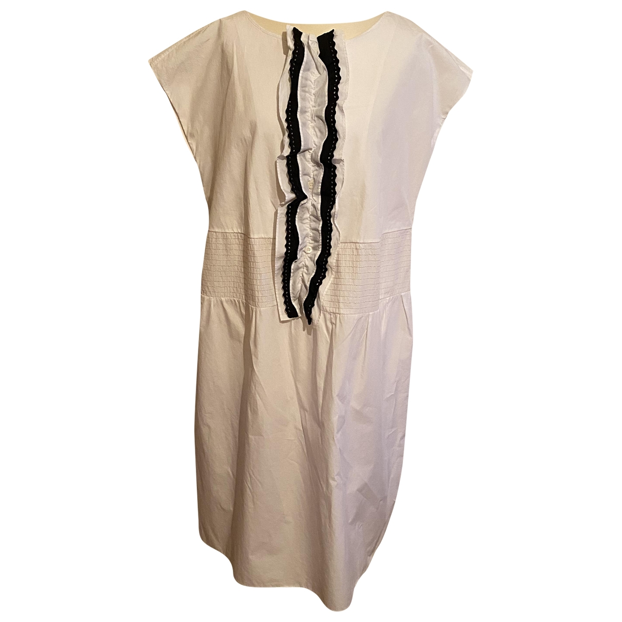 Prada - Robe   pour femme en coton - blanc