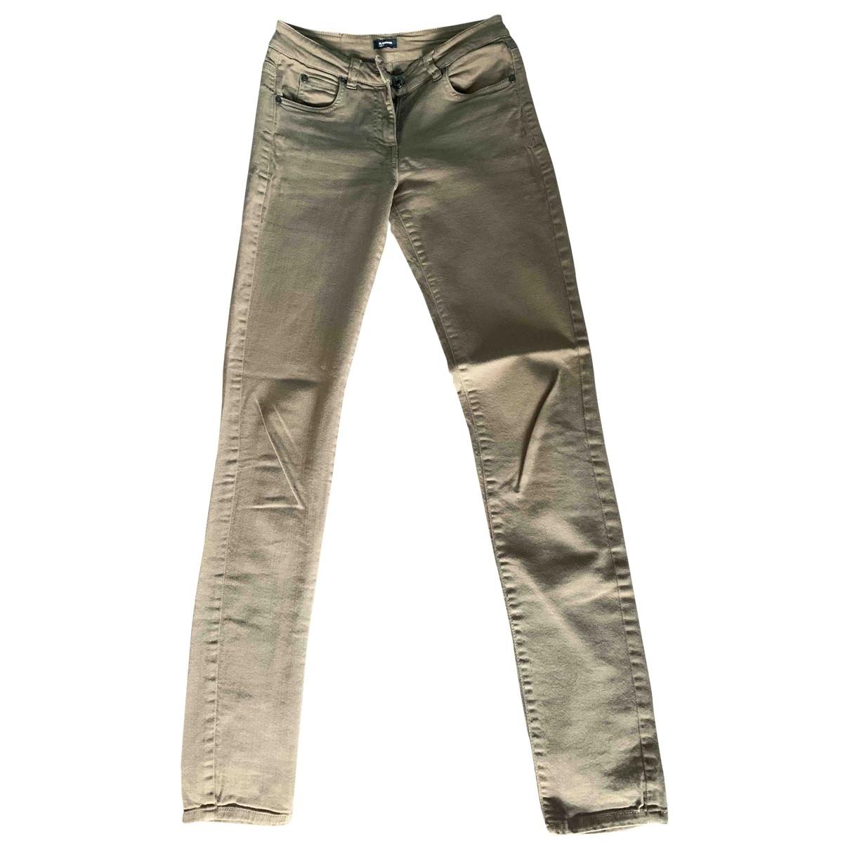 Jil Sander \N Beige Cotton Jeans for Women 34 FR