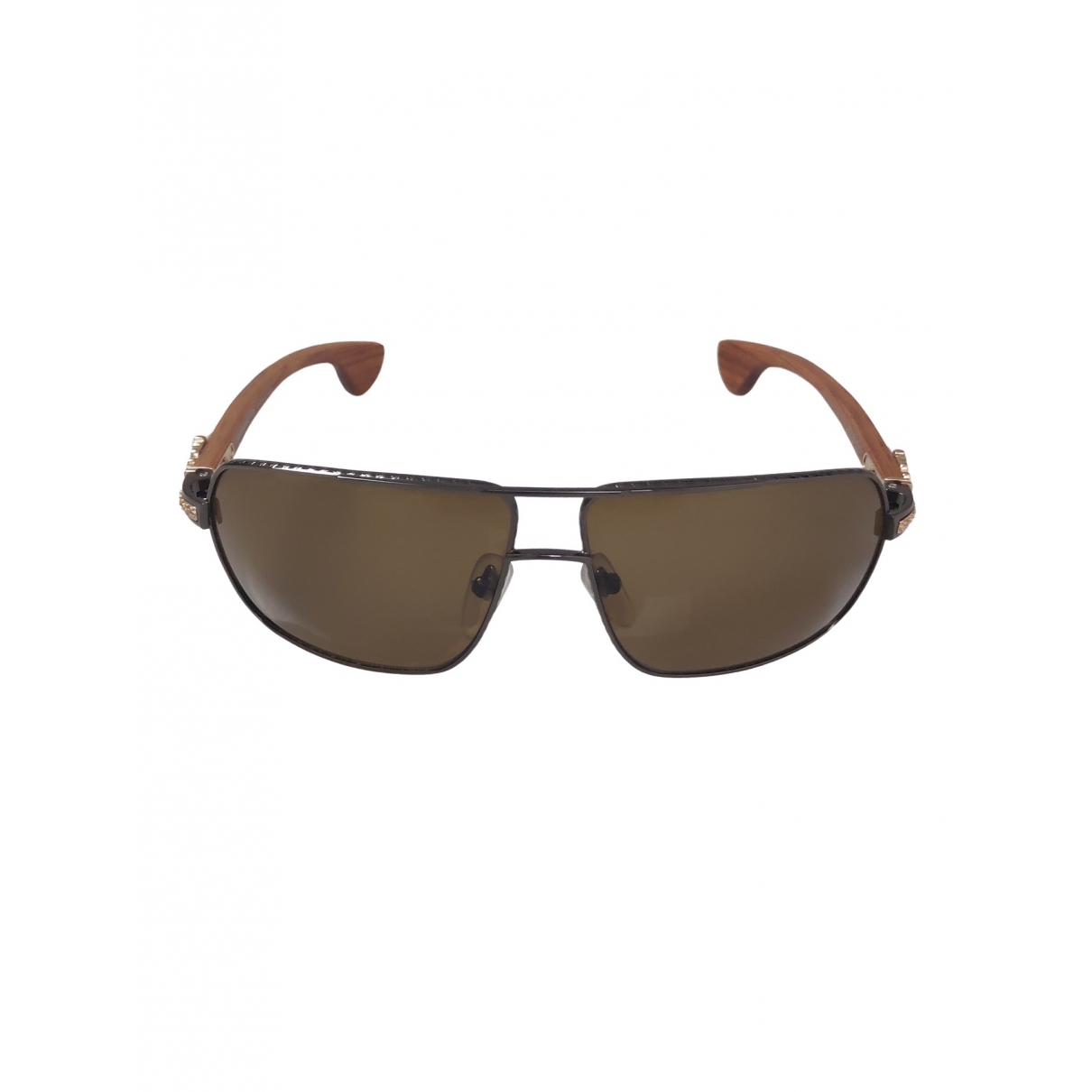 Chrome Hearts \N Brown Wood Sunglasses for Men \N
