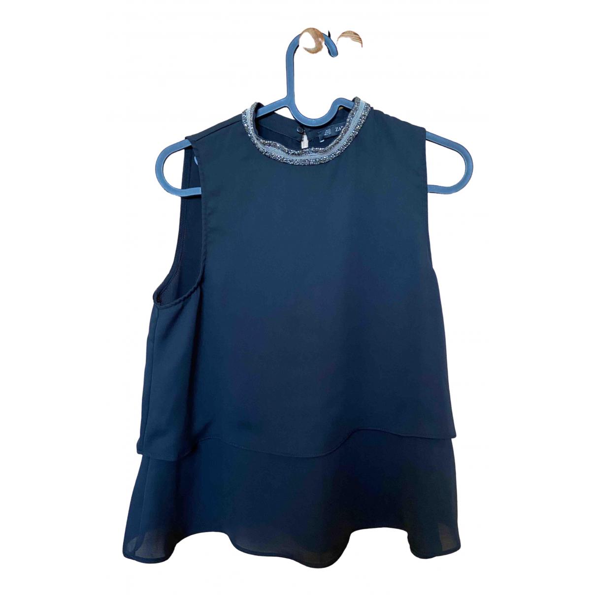 Zara \N Top in  Schwarz Polyester