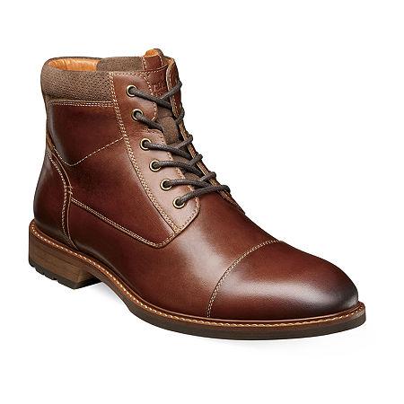 Florsheim Mens Chalet Plain Toe Lace Up Boots, 11 Medium, Brown