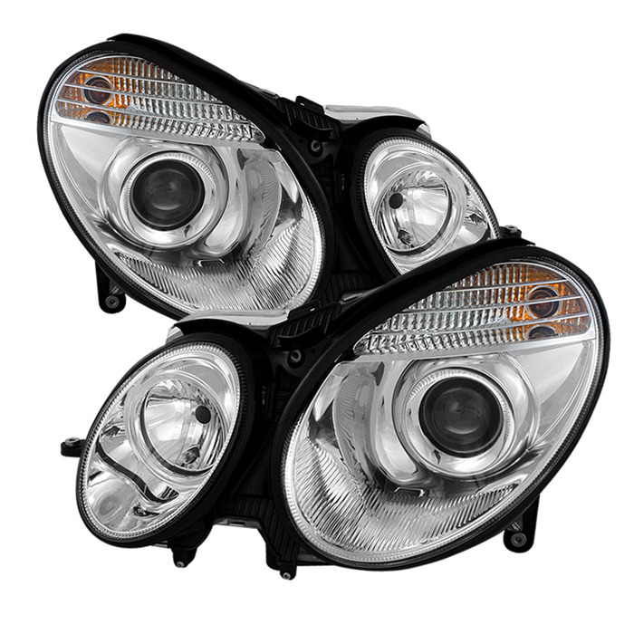 Spyder Auto PRO-YD-MBW21103-C Chrome Projector Headlights with High H7 and Low H7 Lights Included Mercedes Benz E350 with Halogen Lights 2006