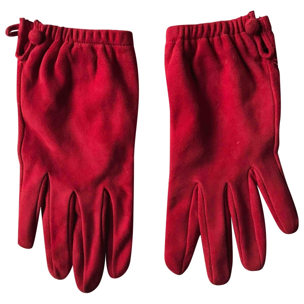 Prada \N Red Suede Gloves for Women 8 Inches