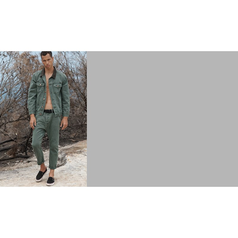 FRENCH KHAKI MR RELAXED LOOSE TAPERED JEAN