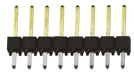 Samtec , TSW, 7 Way, 1 Row, Straight Pin Header