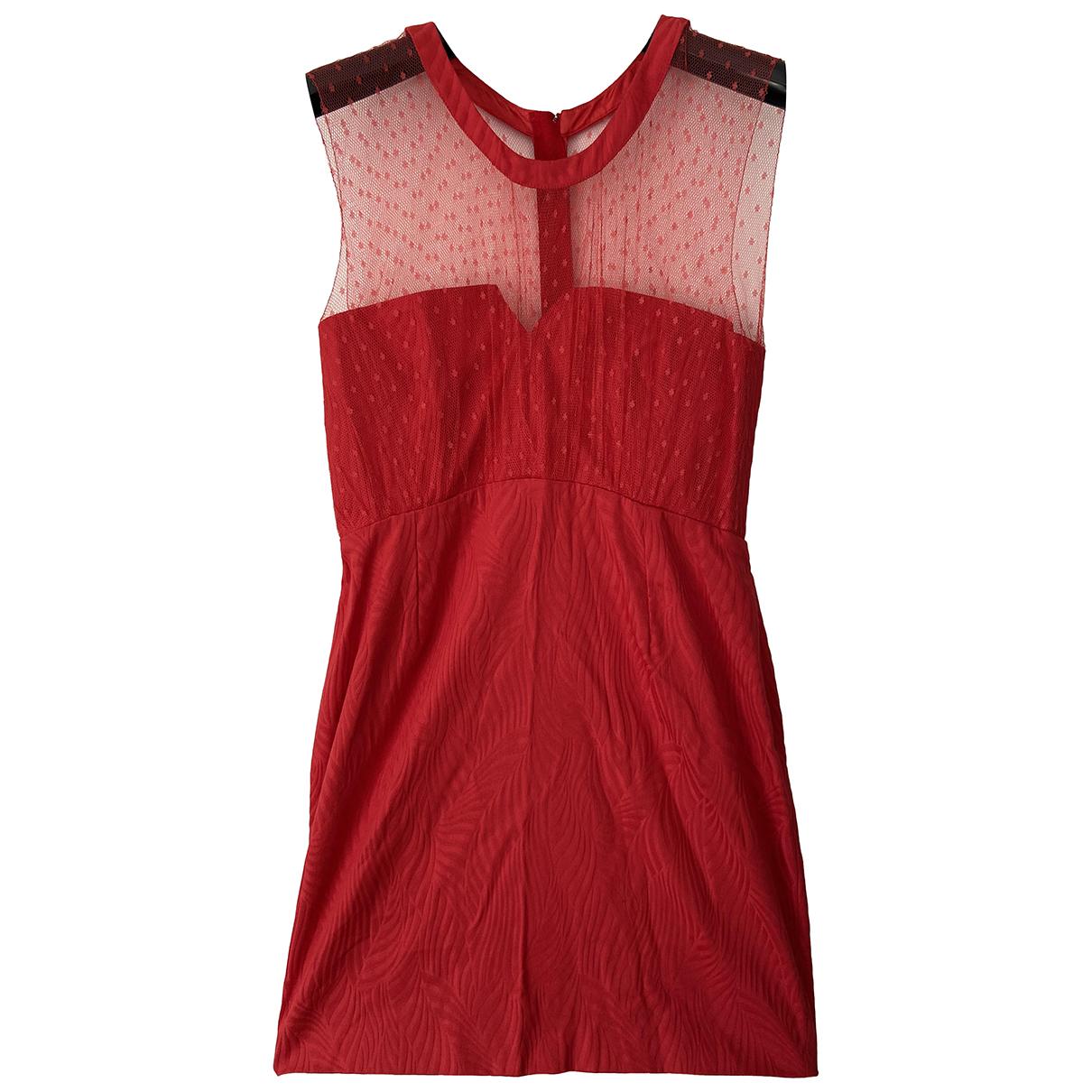 The Kooples - Robe   pour femme en coton - rouge