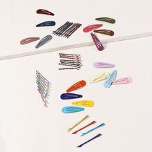 44pcs Colorful Hair Clip & Bobby Pin