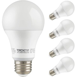 15W LED A19 Light Bulb, 1600lm, 5000K Daylight - 4 Pack (4 Pack)