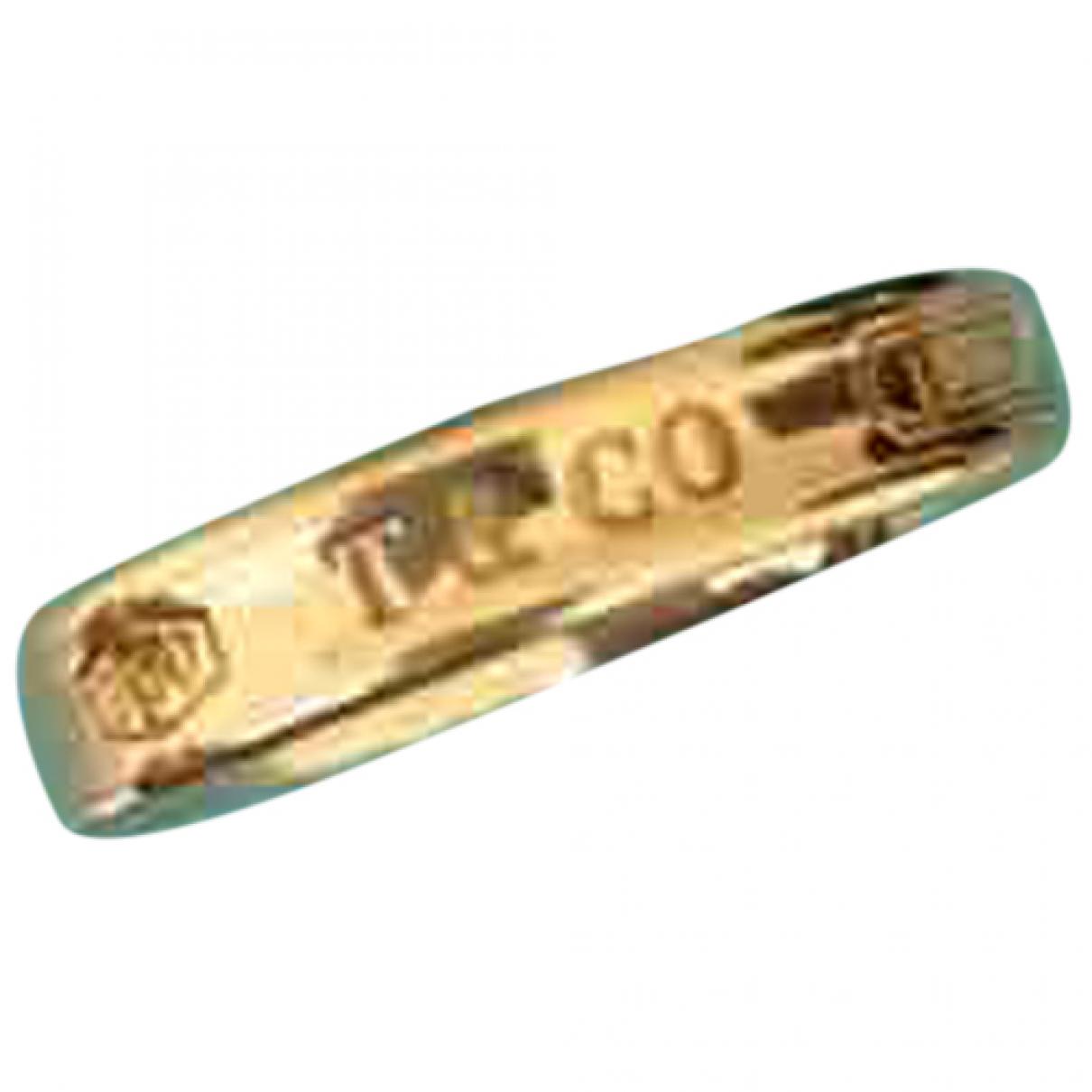 Tiffany & Co - Bague Tiffany 1837 pour femme en or jaune - dore