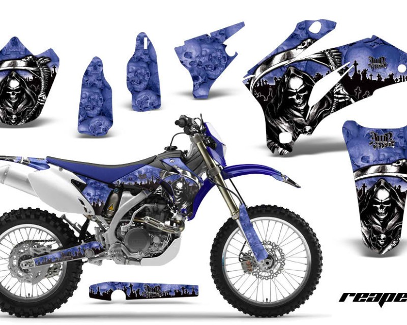 AMR Racing Dirt Bike Graphics Kit Decal Wrap For Yamaha WR250F 2007-2014 WR450F 2007-2011áREAPER BLUE
