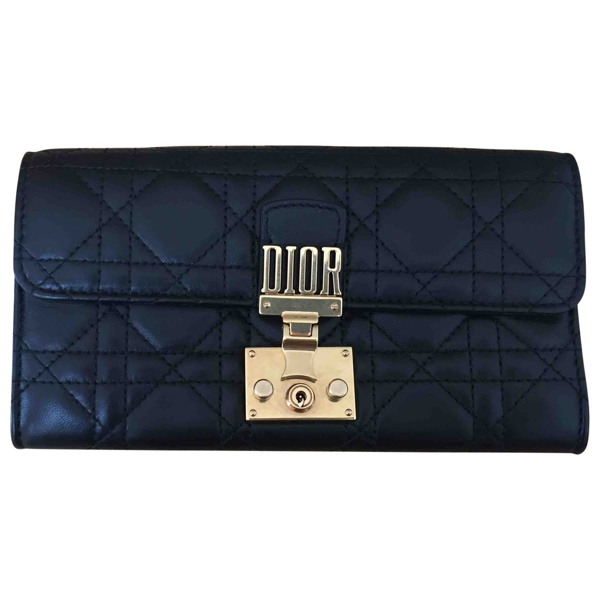 Dior DiorAddict Black Leather wallet for Women \N