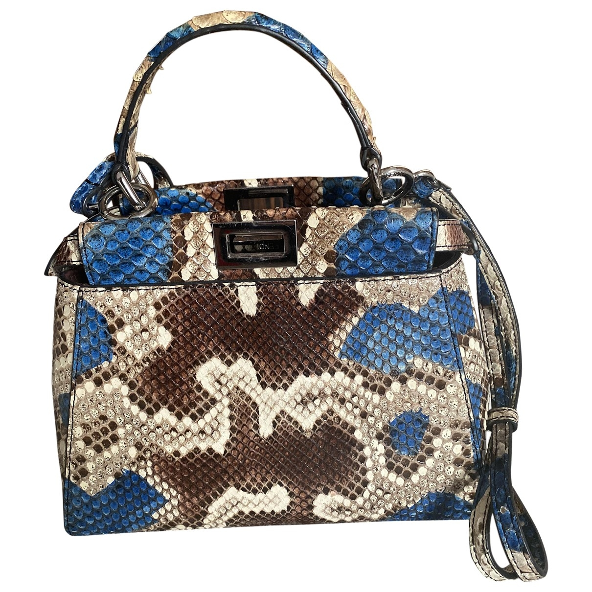 Fendi Peekaboo Multicolour Python handbag for Women \N