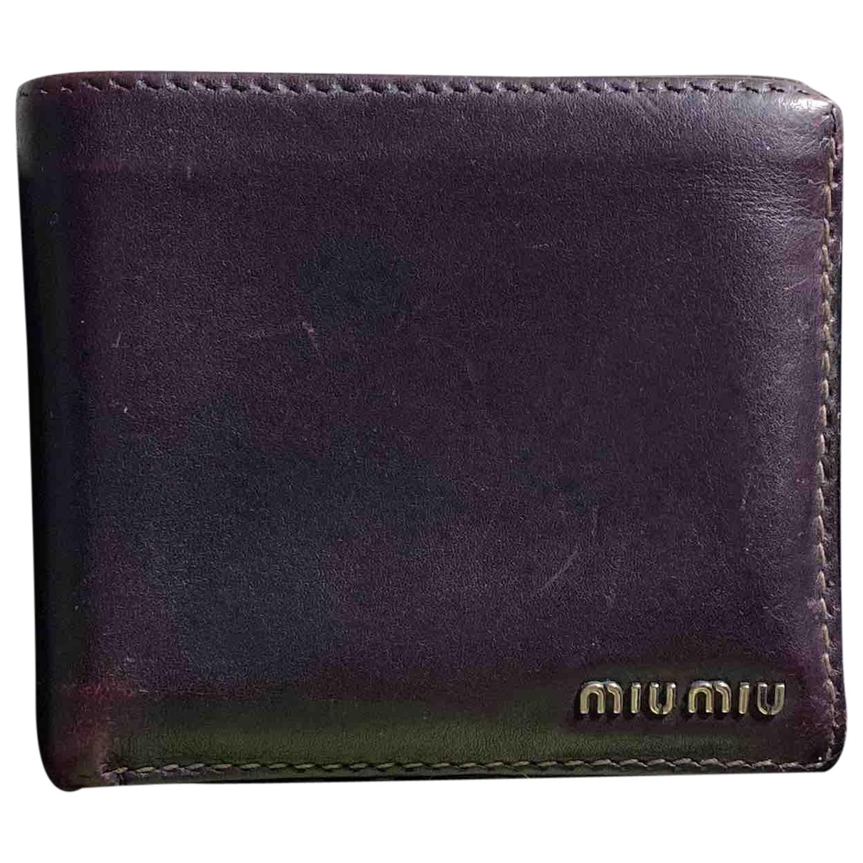 Miu Miu - Petite maroquinerie   pour homme en cuir - violet