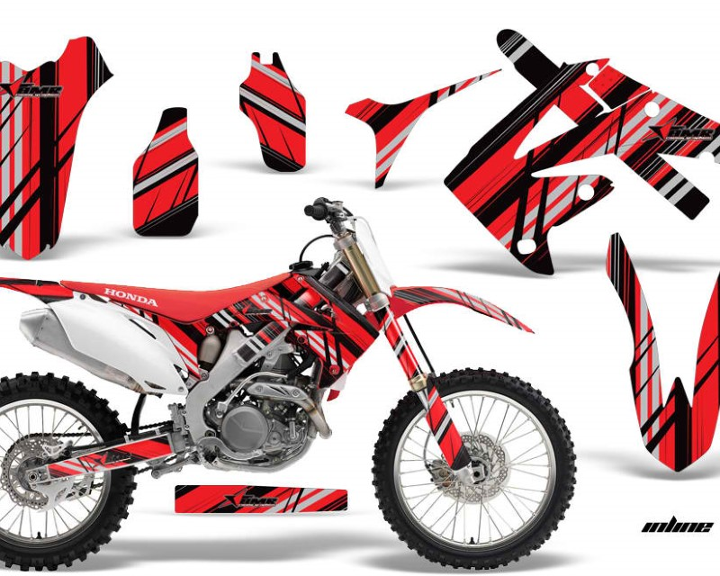 AMR Racing Dirt Bike Graphics Kit Decal Sticker Wrap For Honda CRF450R 2009-2012áINLINE RED