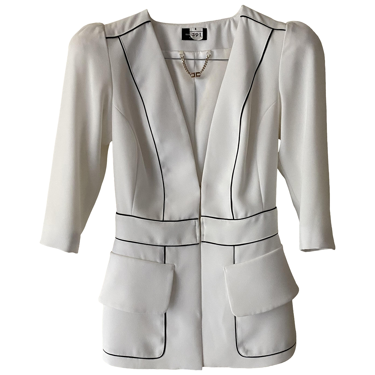Elisabetta Franchi \N White jacket for Women 40 IT