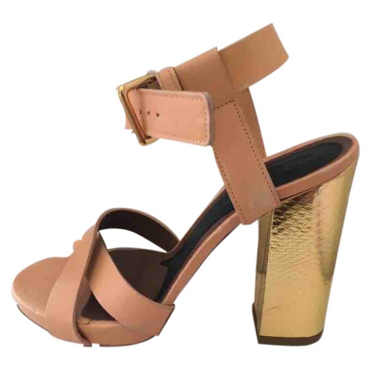 Marni - Sandales   pour femme en cuir - rose