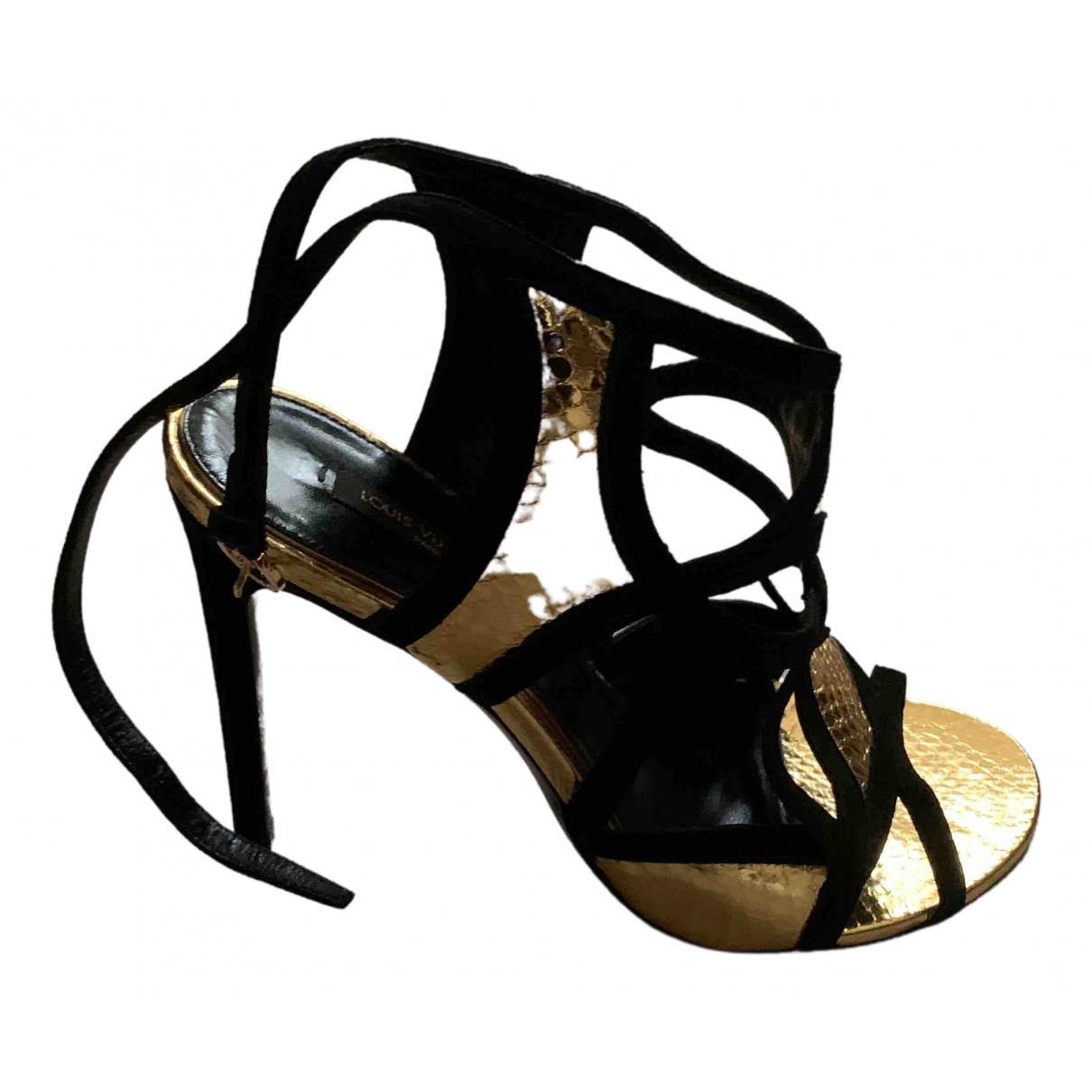 Louis Vuitton - Sandales   pour femme en suede
