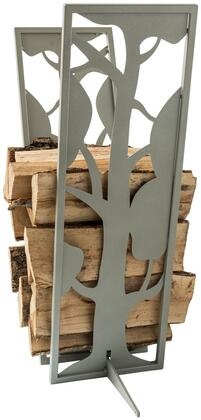Curonian LRTREES Tree Firewood Rack with Unique Design and Powder Coated Steel Construction