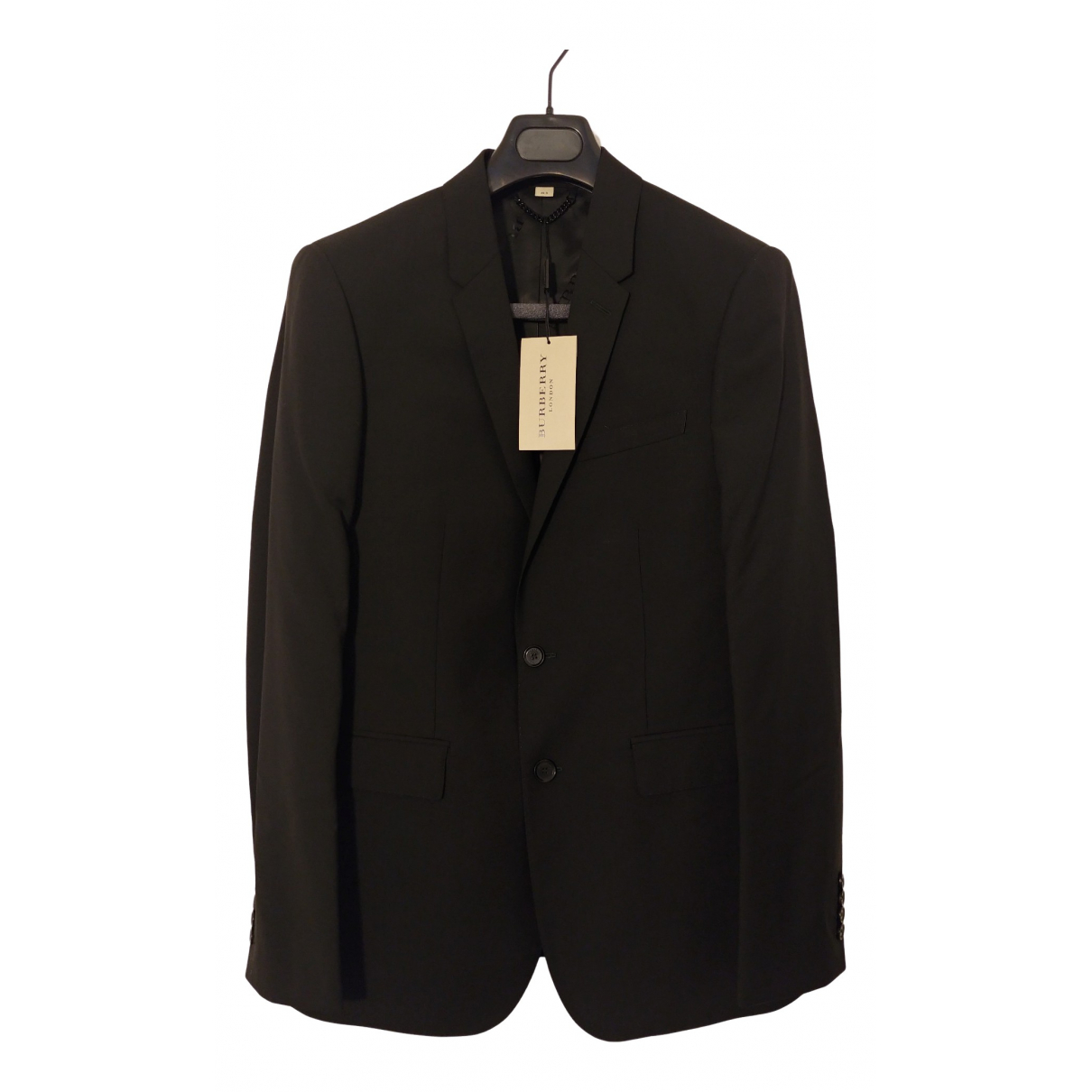 Burberry \N Black Wool Suits for Men 48 IT