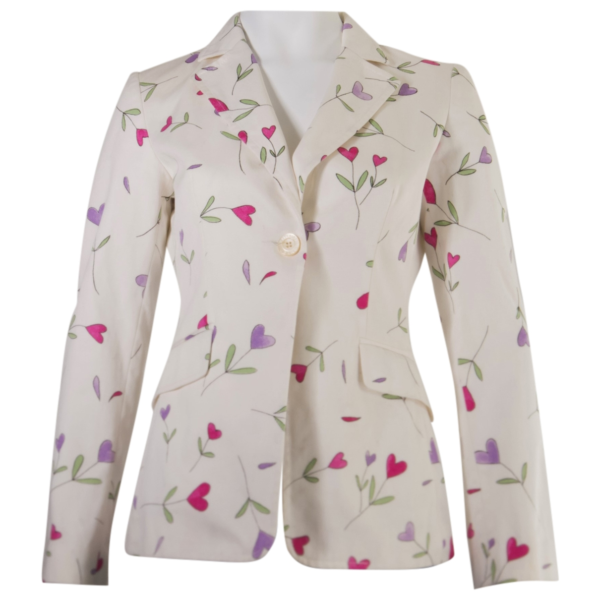 Moschino \N White Cotton jacket for Women 40 IT