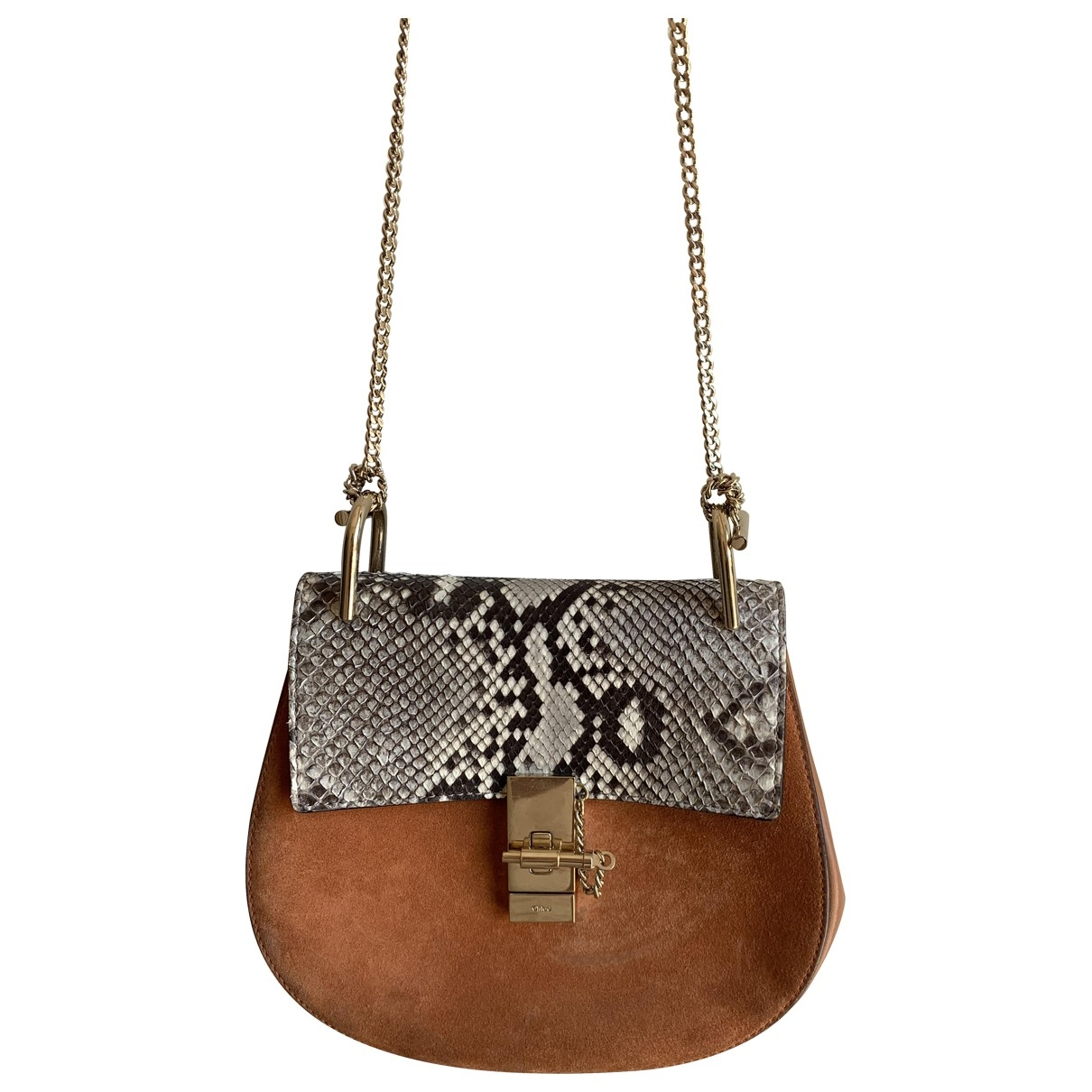 Chloé Drew Brown Python handbag for Women \N
