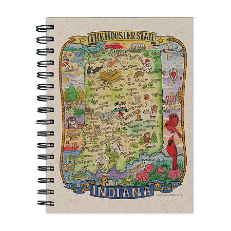 Tf Publishing Indiana State Map Journal, One Size , Multiple Colors