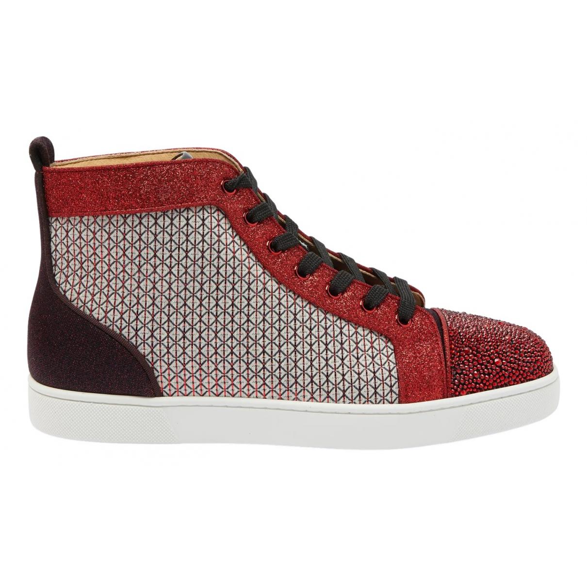Christian Louboutin \N Sneakers in  Rot Leinen