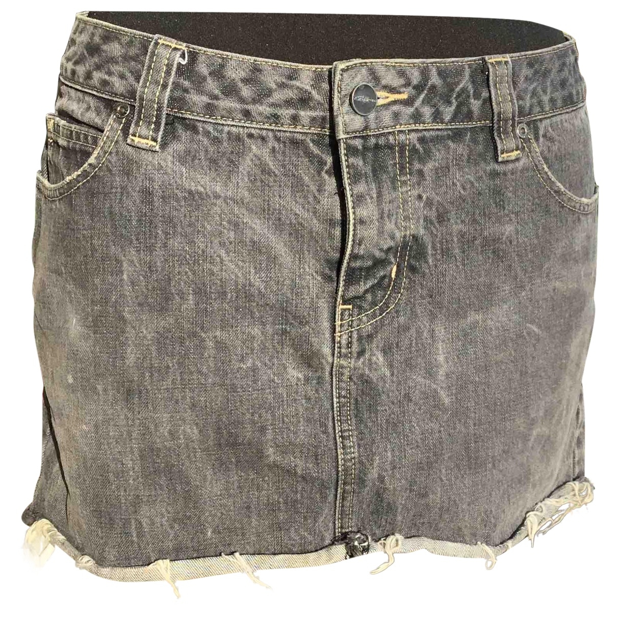 Karen Millen \N Rocke in  Grau Denim - Jeans