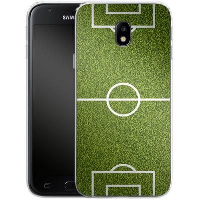 Samsung Galaxy J3 (2017) Silikon Handyhuelle - Soccer Field von caseable Designs