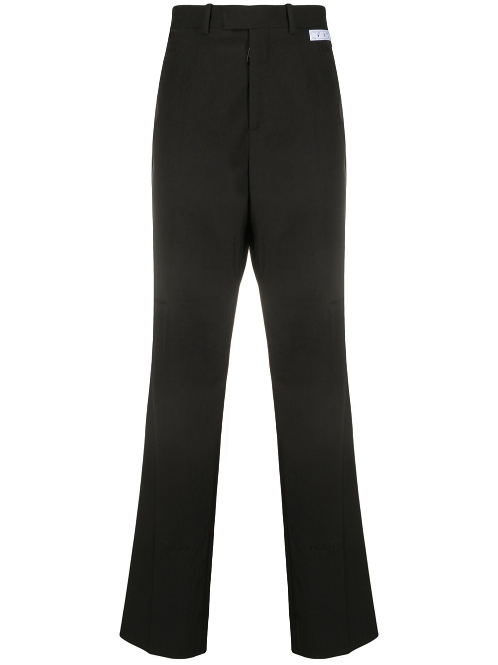 Wool Logo Patch Trousers