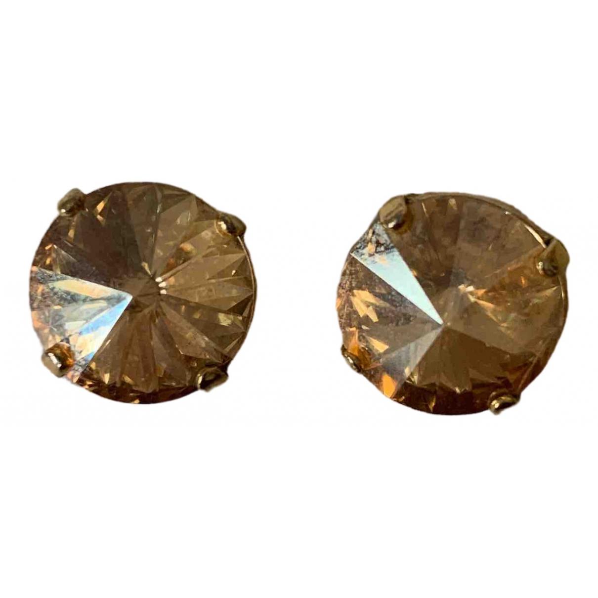 - Boucles doreilles Puces en diamants pour femme en metal - dore
