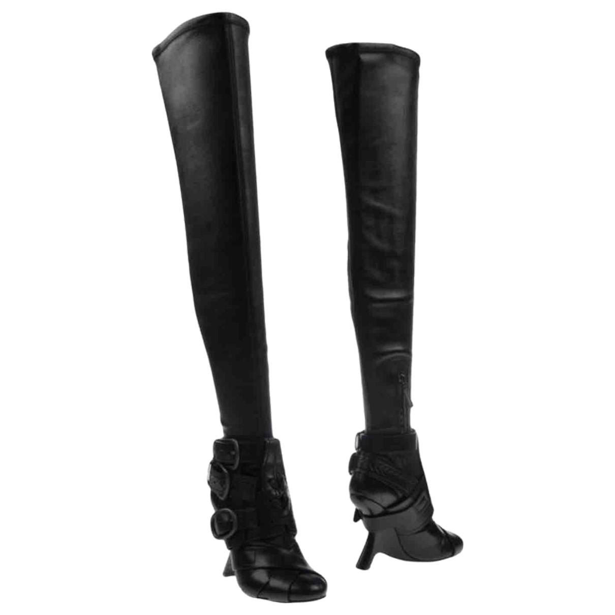 Tom Ford - Bottes   pour femme en cuir - noir