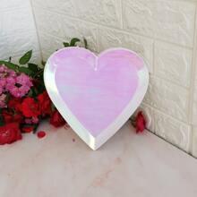 8pcs Heart Shaped Disposable Plate